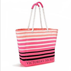 VS Striped Beach Weekender Tote